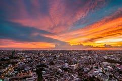 Schemeringmening Bangkok Stock Foto's