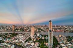 Schemeringmening Bangkok Royalty-vrije Stock Afbeelding