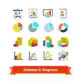 Schemes and diagrams for presentation Royalty Free Stock Photo