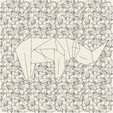 Schemes origami in light colors. Pattern made of schemes origami in light colors Stock Images