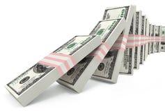 Schending van stabiliteit van dollar royalty-vrije illustratie
