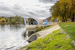 SCHENGEN, LUXEMBURG - NOVMEBER 6, 2015: Monument-Schengener Abkommen Stockfoto