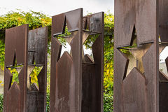 SCHENGEN, LUXEMBURG - NOVMEBER 6, 2015: Monument-Schengener Abkommen Stockfotos
