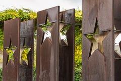 SCHENGEN, LUXEMBURGO - NOVMEBER 6, 2015: Acuerdo de Schengen del monumento Fotos de archivo