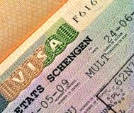 Schengen Visa Stock Images