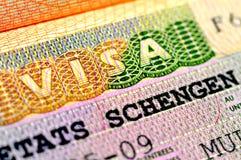 Schengen Visa Royalty Free Stock Photography