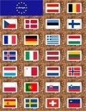 Schengen Visa Countries flags Royalty Free Stock Photos