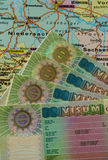 Schengen VISA on Germany map Royalty Free Stock Photography