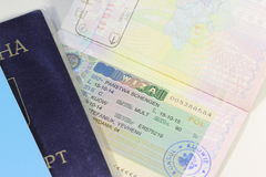 Schengen visa Stock Photos