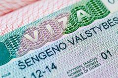 Schengen visa Royalty Free Stock Images