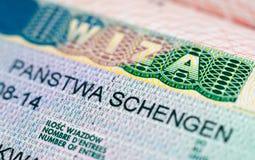 Schengen visa Royalty Free Stock Image