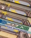 Schengen visum Royaltyfri Fotografi