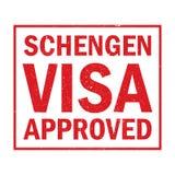Schengen-Visum genehmigt, Lizenzfreie Stockfotos