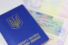 Schengenvisum Royalty-vrije Stock Foto's