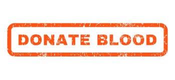 Schenk Bloed Rubberzegel Stock Afbeeldingen