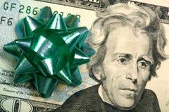 Schenk contant geld Royalty-vrije Stock Foto
