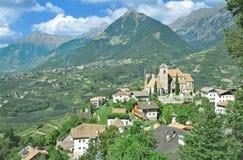 Schenna,Merano,Dolomites,South Tirol,Italy. Village of Schenna near Merano in Dolomites,South Tirol,Trentino,Alto adige,Italy royalty free stock photo