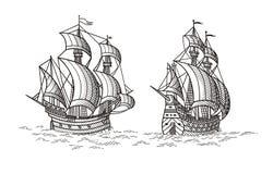 schepen royalty-vrije illustratie