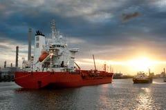 Schepen in de haven Royalty-vrije Stock Afbeelding