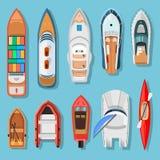 Schepen en boten hoogste mening vector illustratie