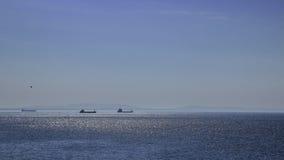 Schepen en oceaan Stock Foto
