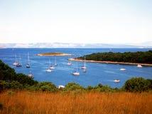 Schepen in het overzees van Kroatië Stock Afbeelding