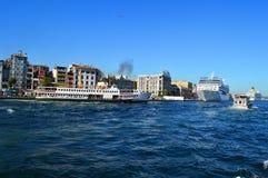 Schepen in Istanboel Royalty-vrije Stock Foto