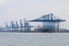 Schepen in Northport, Klang, Maleisië - Reeks 2 Royalty-vrije Stock Afbeeldingen