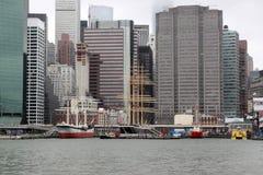 Schepen, NYC stock foto