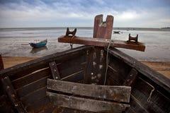 Schepen op strand Royalty-vrije Stock Foto's