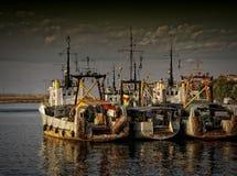 Schepen op zee Royalty-vrije Stock Afbeeldingen