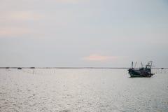 Schepen op zee Stock Afbeelding
