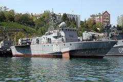 Schepen van de vloot van de Zwarte Zee stock afbeelding
