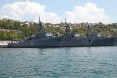 Schepen van de vloot van de Zwarte Zee royalty-vrije stock fotografie