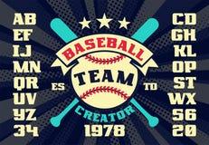 Schepper van het honkbal de uitstekende team stock illustratie