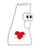 Schepsel met hart Royalty-vrije Stock Foto