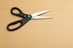 Scheren einer Schwarzes geöffnete Damenschneiderin lizenzfreies stockbild
