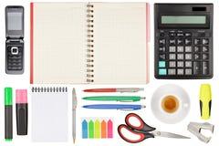Scheren, Hefter, Anti-hefter, Bleistiftspitzer und anderer Lizenzfreies Stockfoto