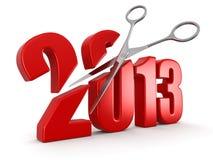 Scheren und 2013 Lizenzfreie Abbildung