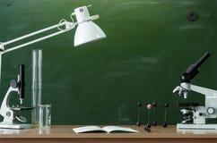 Scheren und Bleistifte auf dem Hintergrund des Kraftpapiers Zurück zu Schule-Konzept Lizenzfreie Stockfotografie