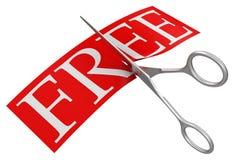 Scheren und geben frei (der Beschneidungspfad eingeschlossen) Stockbild