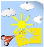 Scheren und Wolken Lizenzfreies Stockfoto