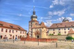 Scherenbergtor en la fortaleza de Marienberg (castillo), Wurzburg, Baviera Imagenes de archivo