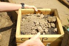 Schermatura del suolo per i diamanti Fotografia Stock