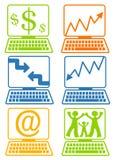 Schermi del computer portatile del calcolatore royalty illustrazione gratis