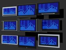 Schermi della TV Immagine Stock