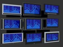 Schermi della TV Fotografia Stock Libera da Diritti