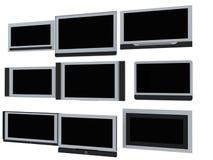 Schermi della TV Fotografie Stock