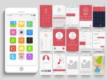 Schermi mobili differenti di applicazione UI royalty illustrazione gratis
