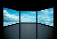 Schermi nuvolosi Fotografie Stock Libere da Diritti